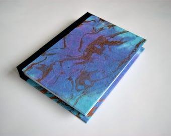 Tie dye journal, blue journal, metallic journal