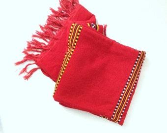 Vintage southwestern blanket. Large Red southwestern throw