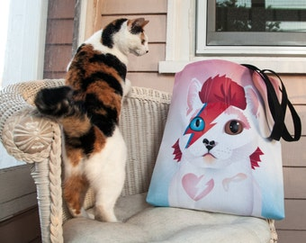 A Cat Insane - BowieCat Tote Bag