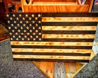 Rustic handmade American Flag