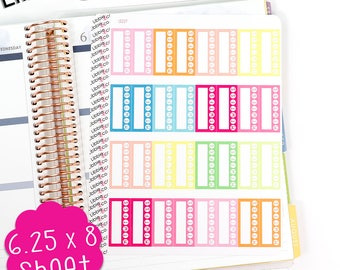 LS227 Summer Habit Tracker Stickers! Set of 32 Perfect for the Erin Condren Life Planner!!