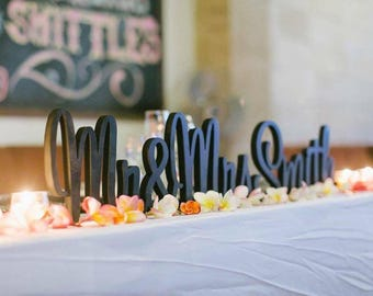 Personalised Mr & Mrs Wedding UNPAINTED sign with surname