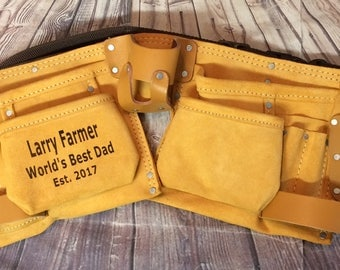 Personalized tool belt engraved with name/saying construction, contractor, christmas gift, Father's Day gift