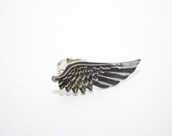 Ring made of a metal wing, wing ring, silver ring, wing jewelry, silver wing- adjustable ring