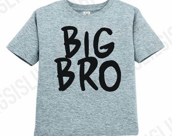 Big Brother Blockletter Shirt/Big Brother Shirt/Pregnancy Announcement/Big Bro/New Parents/Little Brother/Announcements