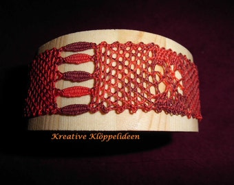 Wood Bangle with lace