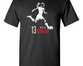 Alex Morgan Fan Training Tee Shirt USWNT Women's Soccer Fanatic