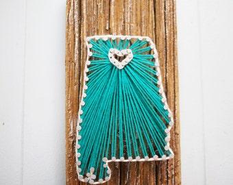 Alabama Driftwood String Art