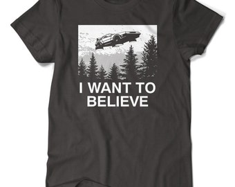 I Want To Believe - Time Machine  T-shirt