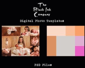 8 x 10 Collage Template #7 Landscape