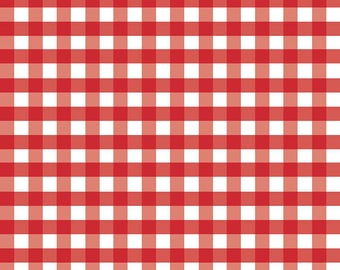 Gingham Girls Woven Red check  WC460 RED