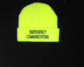 Emergency Communications Beanie Hat   Ham Radio Hats    Amateur Radio   Callsign   Call Sign Hats