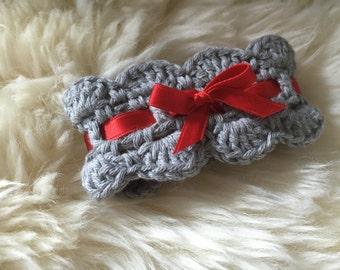crochet pattern napkin ring, table setting decoration