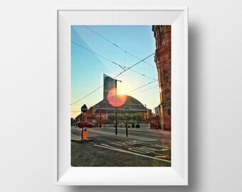 Manchester Sunburst / MCR / Manchester Central / Beetham Tower / GMEX / Midland Hotel / Wall Art / Print / Mancunian
