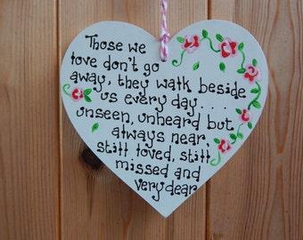Lost loved ones plaque, Memorial plaque, Missing loved ones, In memory of loved ones, In loving memory, Bereavement sign, Memorial sign