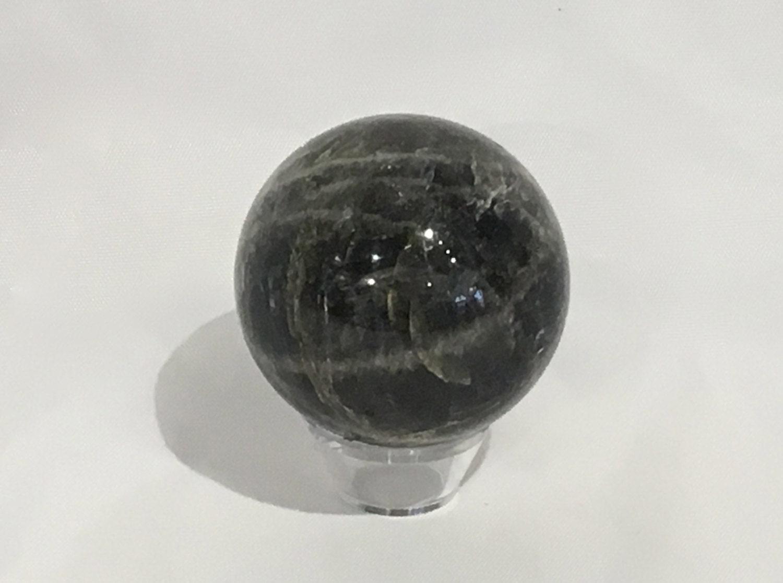 BLACK MOONSTONE Sphere// Moonstone Sphere// Crystal Sphere ...