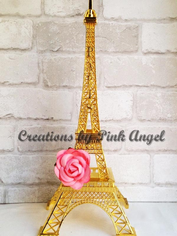 Inch gold and pink eiffel tower centerpiece large paris