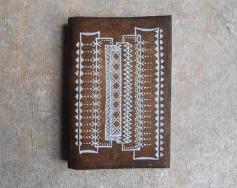 Notebook - ethnic sketchbook - journal - diary - gift for Traveler - Totem
