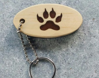 Handcrafted Wolf Paw Key Chain Fob