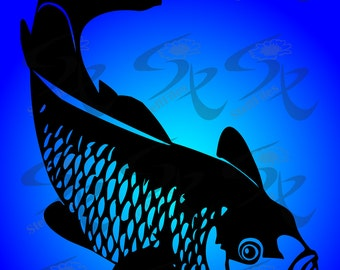 0574_ Vector Fish Silhouette,Clip Art,SVG,DXF, AI, png, eps, jpg,silhouettes, Download files, Digital, graphical