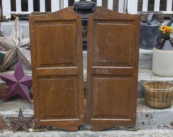 Vintage Saloon Shutter Doors Antique Shutters Swinging Doors Paneled Cafe Doors Old Western Bar Doors Louvered & Saloon doors | Etsy Pezcame.Com