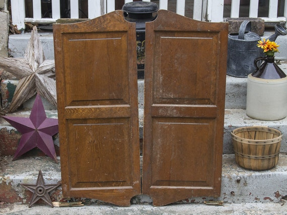 Vintage Saloon Shutter Doors Antique Shutters Swinging Doors Paneled Cafe  Doors Old Western Bar Doors Louvered Shutter Doors Hardware Hinges from ... - Vintage Saloon Shutter Doors Antique Shutters Swinging Doors Paneled