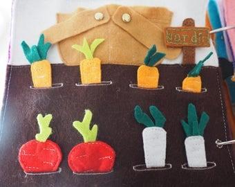 Vegetables Garden Quiet Book Page