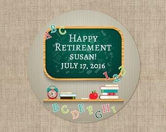 Retirement Stickers -  Teachers Retirement  - Retirement Labels - Retirement Decor -Custom Retirement Stickers - Retirement Decor