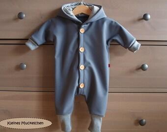 "Softshell Bodysuit, ""Manni"", grey"