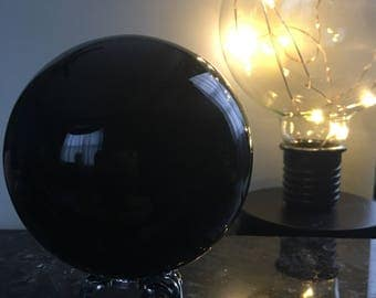 Black Obsidian Sphere, Stand Included
