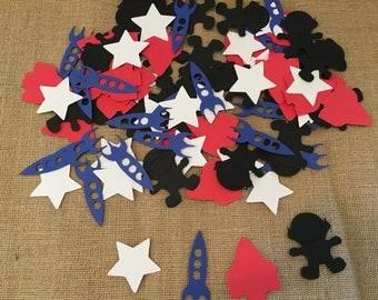 100 Piece Space Theme Confetti, Space Theme Party, Space Party Confetti, Out of this World Confetti