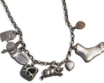 Milagros Vintage Charm Necklace