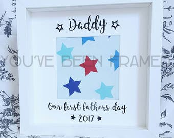 Daddy - our first fathers day 2017 - keepsake box frame - unique gift