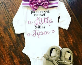 Though She Be But Little... Onesie