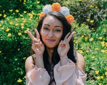 LOVE ME // orange & white flower crown inspired by Sailor Venus