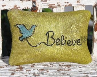 Fairy Pillow, Style Options: Believe for Miniature Garden, Fairy Garden