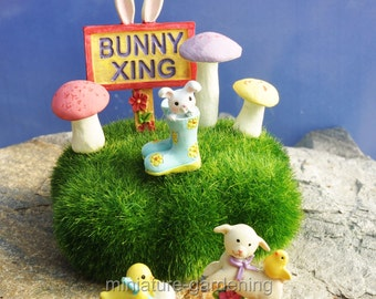 Bunny Trail for Miniature Garden, Fairy Garden