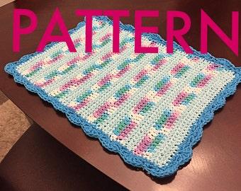Crochet Placemat Pattern -  Beginner Pattern - PDF Pattern