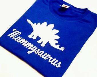 Mummysaurus T-Shirt, Mothers Day Gift, Matching Dinosaur Shirts, Mummy Dino Tee, New Mum Gift, Womens Stegosaurus Tshirt, Dinosaur Lover