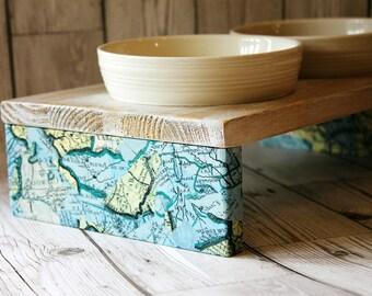 LAST Cat Bowl Stand - Map Design
