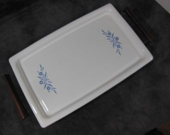 Corning Ware Broil or Bake Tray With Stand, Model P-35-B, Vintage