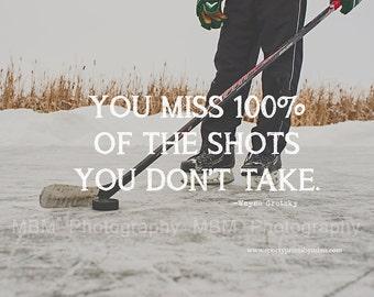 8x10 Wayne Gretzky Quote Hockey Print