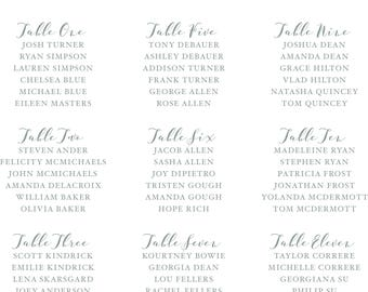 Customizable Wedding Seating Chart | Print-at-home