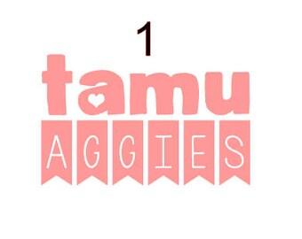 TAMU aggies banner decal