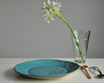 New Turquoise Serving Plate