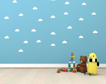 Cloud shape vinyl wall decals : Set of 24 Vinyl wall stickers