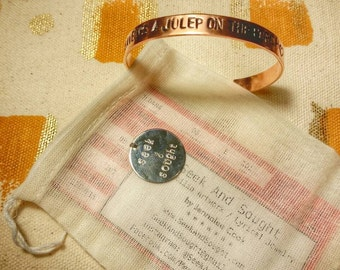 Punch Brothers - Julep copper stamped bracelet