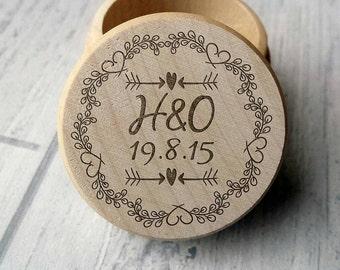Personalised Engraved Ring Box, Wedding, Ring Box, Bride and Groom, Keepsake (00195)