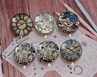 Handmade Round Photo glass Cabochons,8mm -58mm size Cute Animal Style Butterfly More-ZY892