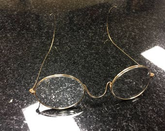 Vintage 14kt eye glasses over the ear by Prince  early 1900's